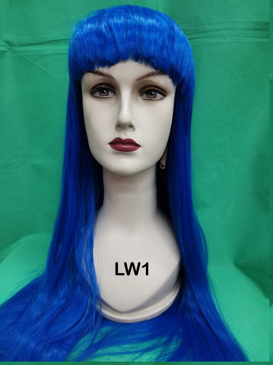 long colored wig
