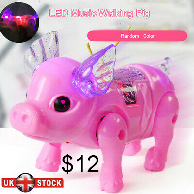Electric walking and singing pig