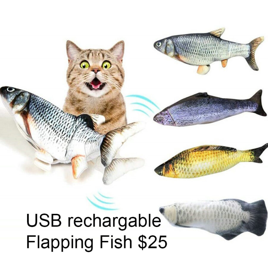 Moving Fish toy for cats