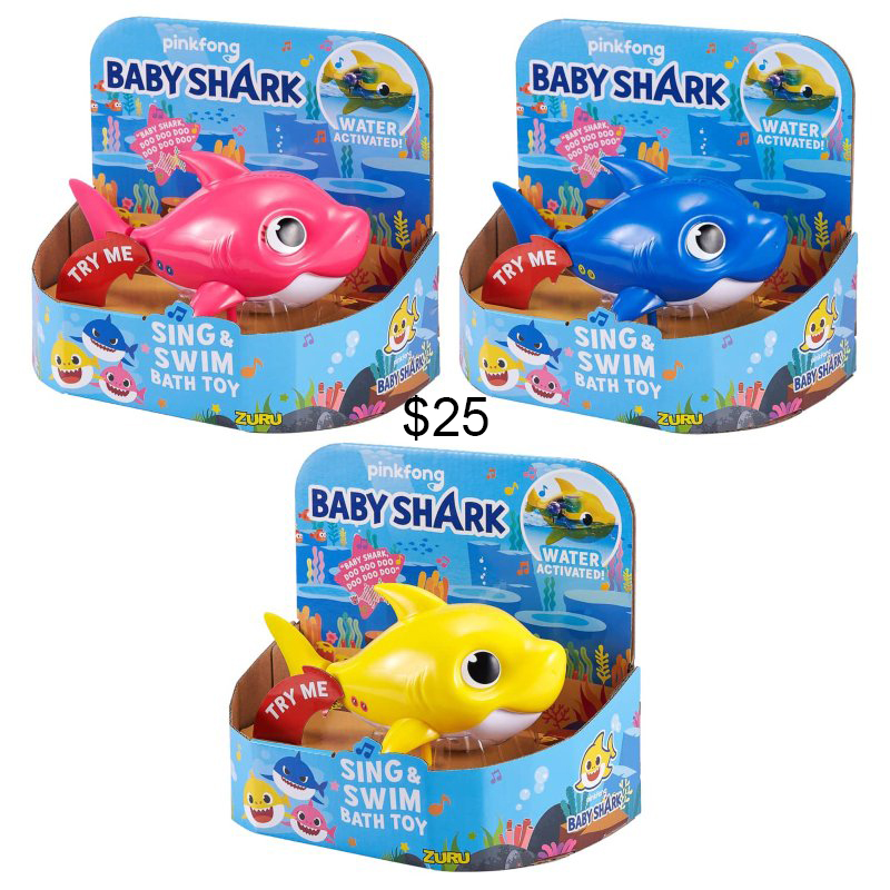 Baby shark sings and swim bath toy